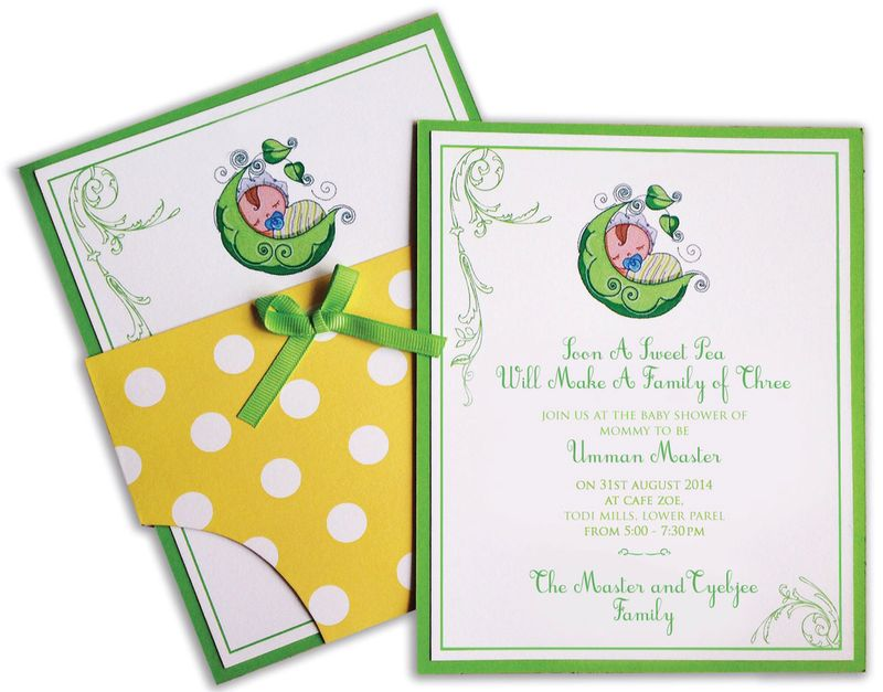 'Sweet Pea' Baby Shower Invite