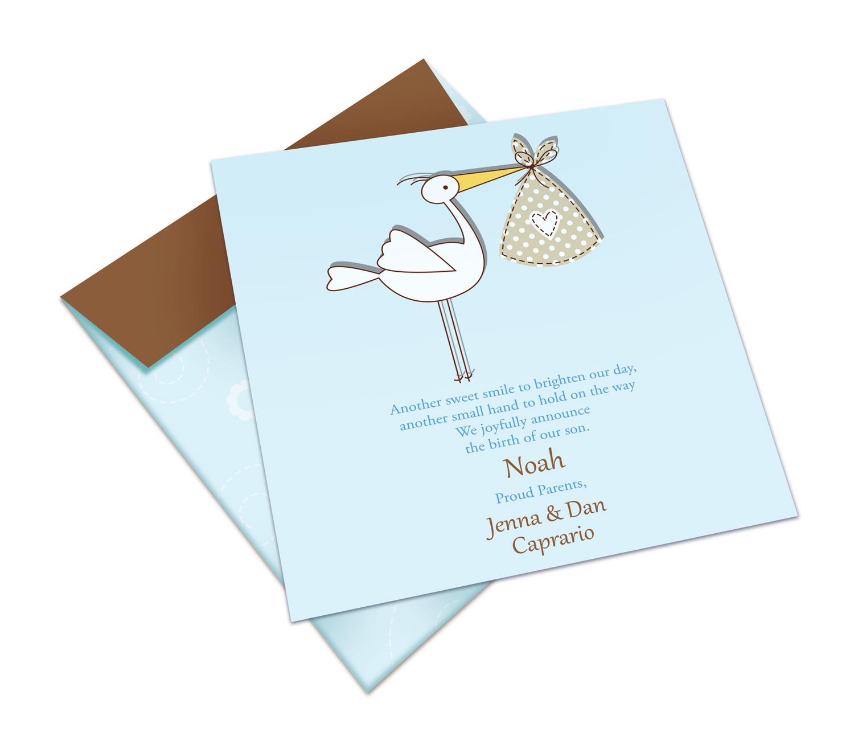 Stork 'Noah' Birth Announcement