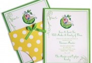 'Sweet Pea' Baby Shower Invite