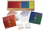 Gold Silk Screen Motif Cards