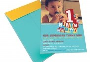 First Birthday 'Qasim' Invite