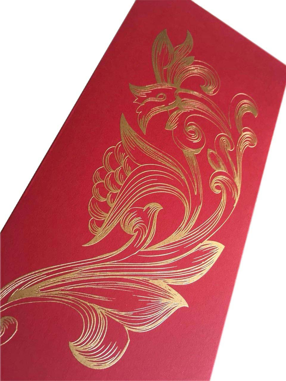 Raised Gold Printed Money Envelopes with Butterfly Closure
