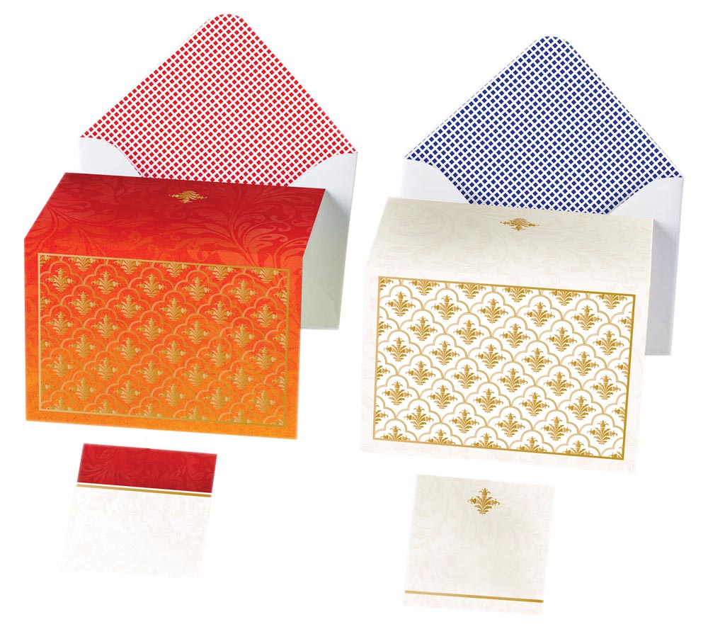 Gold Silk Screen Jaali Cards