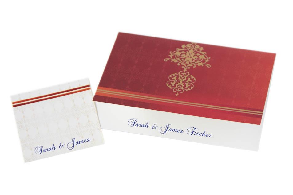 Gold Silk Screen Motif Cards