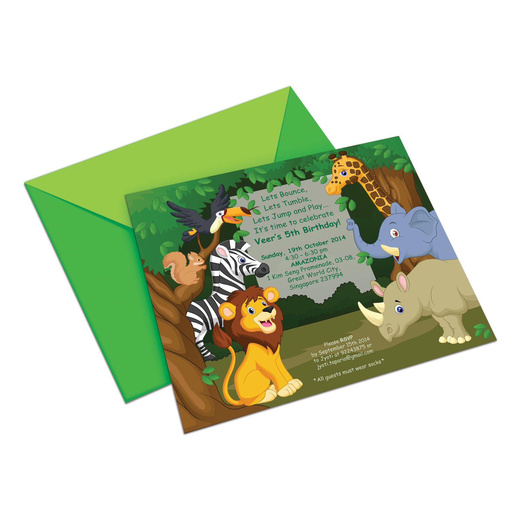 Jungle 'Veer' Birthday Invite